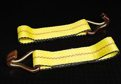 (2) J WH Ends for Ratchet Straps Flatbed Truck Trailer Tie Down Strap Fixed End