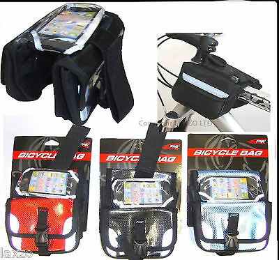 Cycling Bike Bicycle Frame Pannier Front Tube Pouch Bag Mobile phone Holder