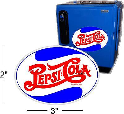 "3""  PEPSI OVAL FOR SODA POP VENDING MACHINE COOLER OR GUMBALL"