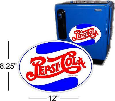 """24/""""  PEPSI SCRIPT 40/'S STYLE DECAL FOR A SODA POP VENDING MACHINE COOLER OR SIGN"""