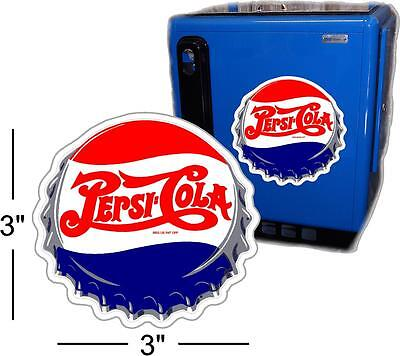"3""  Pepsi Cap For Soda Pop Vending Machine Cooler Or Gumball"