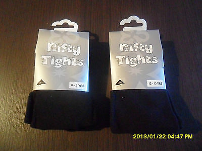 Girls School Tights With Lycra Black Navy Blue Winter From 3 To 13 Years New