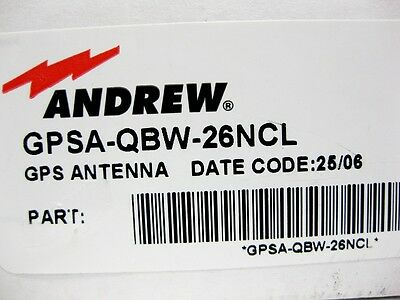 "Andrew GPSA-QBW-26NMSCL - GPS Antenna Kit 26dB with Steel Bar (33.5"") - New"