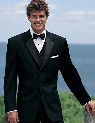46L Mens Traditional Black Chaps Ralph Lauren Tuxedo Jacket Discount Formal