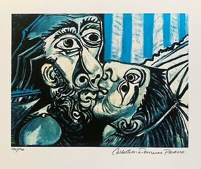 Pablo Picasso THE KISS Estate Signed & Numbered Small Giclee