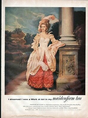 "1956 Maidenform Bra ""I dreamed I was a Work of Art""  PRINT AD"