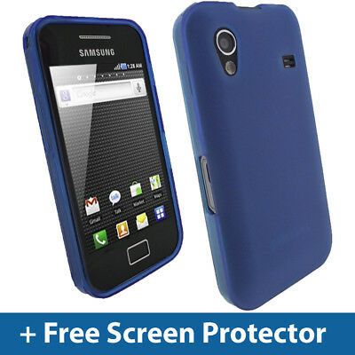 Blue TPU Gel Case for Samsung Galaxy Ace S5830 Android Mobile Skin Cover Holder
