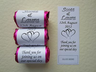 S102 Personalised Mini Love Heart Sweet Wrappers Only Wedding Favours Gift Bag