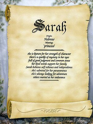 """Scroll"" Name Meaning Prints Personalized"