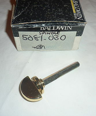 "Baldwin 5081-030 Closet Spindle For 1.375"" Door POLISHED BRASS NEW!"