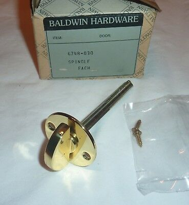 "Baldwin 6748-030 Closet Spindle for 2.125"" Doors POLISHED BRASS NEW in Box!"