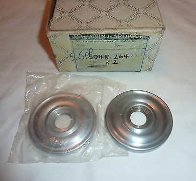 (2) Baldwin 5048-264 Door Knob Estate Rose Pair SATIN CHROME New in Box!