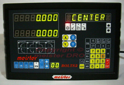 Meister BOLTS2 DRO & MK scales digital readout (Milling Drill Boring Grinding)