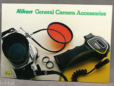 Ancienne Brochure Catalogue Accessoires Nikon Vintage General Camera Accessories