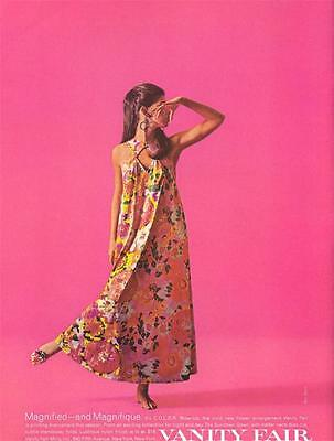 "1968 Vanity Fair Fashion Flower ""The Sundown Gown""  PRINT AD"