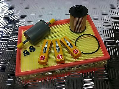 Vauxhall Corsa C 1.0 2000-2006 Full Service Kit Air Oil Fuel Filter And 3 Plugs