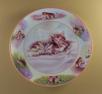 Paws in Action PLAYFUL DREAMS Cat Kitten Plate #1 First Issue Martin Rien
