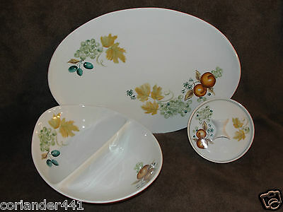 "Vintage 1950's Ben Seibel ""Informal"" Iroquois Old Orchard Design Serving Dishes"