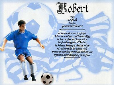 """Soccer Boy"" Name Meaning Prints Personalized"