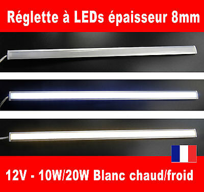 Reglette à LEDs dimmable 10W 20 watts 12V volts Blanc (barrette lampe éclairage)