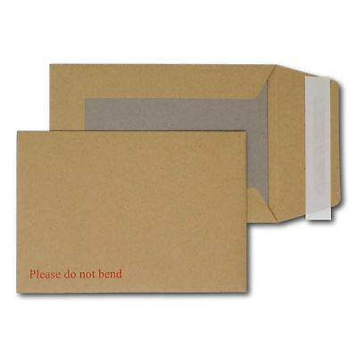 """A6/C6 Hard Board Backed Envelopes Peel & Seal """"Please Do Not Bend"""" 162mm x 114mm"""