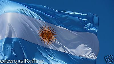 Argentina Flag 3X5 ft New with brass grommets