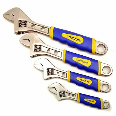 4pc Adjustable Spanner / Monkey Pipe Wrench Set Covers Range 0-36mm TE328