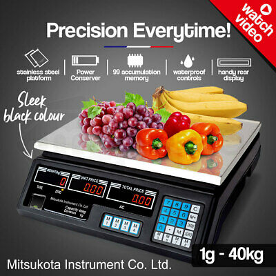 MITSUKOTA 40Kg 1g Market Weighing Scales Commercial Digital Electronic Food