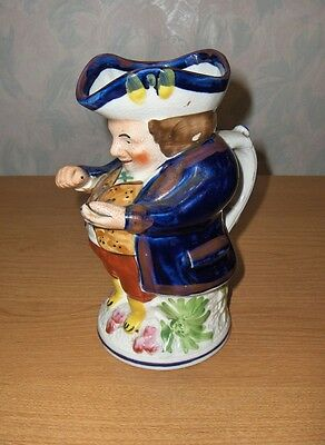 Antique Vintage Allerton China Pitcher Colonial Man Figurine Toby England RARE