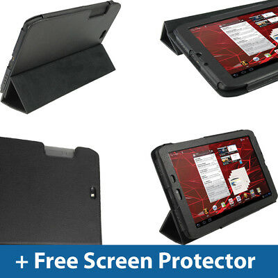 """Black PU Leather Case for Motorola Xoom 2 Media Edition 8.2"""" Droid Xyboard Cover"""