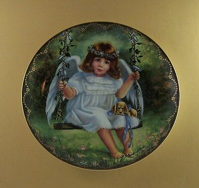 Heaven's Little Sweethearts AN ANGEL'S AFFECTION Plate #7 Puppy Dog Donna Brooks