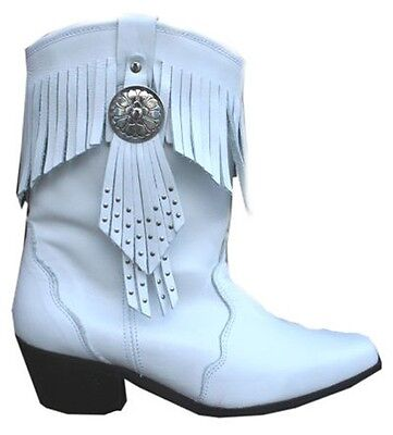 3ba57282f49 LADIES WHITE 100% Genuine Leather Cowboy Cowgirl Boots Western Line ...