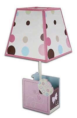 NoJo Pink Butterfly Discounted Girls Ladybug Lullaby Polka Dots Lamp and Shade