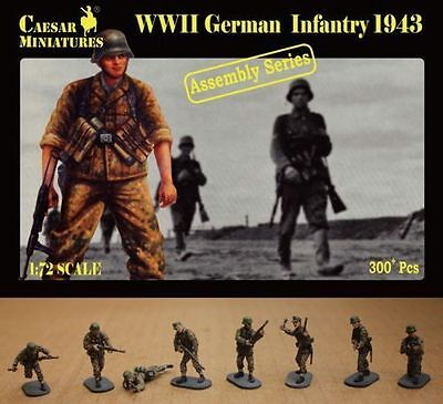 1//72 Caesar WWII German Infantry Marching 38 Figures Army Men Toy Soldier H081