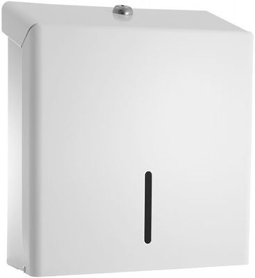 Paper Towel Dispenser White Metal Hand Towel C Fold Lockable