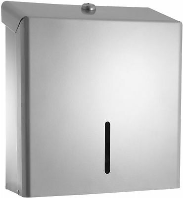 Paper Towel Dispenser Silver Metal Hand Towel C Fold Multifold Any Hand Towel