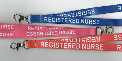 1 REGISTERED NURSE Printed Hospital Breakaway Strap Safety Lanyard: FREE UK P&P