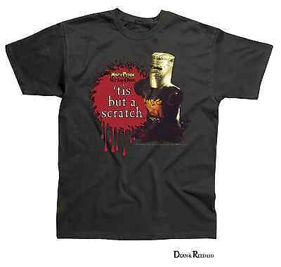 "Monty Python ""tis But A Scratch"" Mens T-Shirt Official - Black (S - Xxl)"
