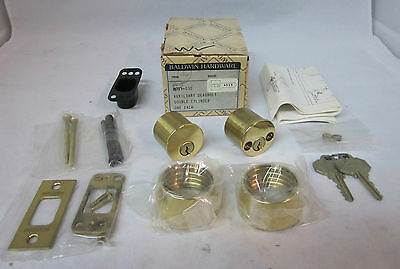 Baldwin 8015.030 Auxiliary Deadbolt Double Cylinder POLISHED BRASS NEW!