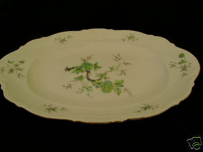 Mitterteich - Green Ming - Large Oval Serving Patter