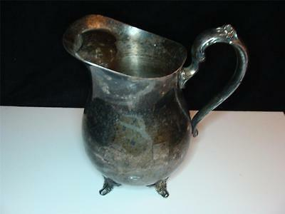 Antique Vintage Silver Silverplate OL Oneida Water Pitcher With Ice Catcher