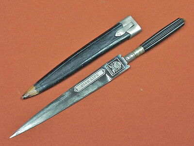 Vintage HIGH LIFE Dagger Hunting Fighting Knife w/ Scabbard