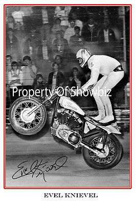 Evel Knievel - Large Signed Autograph Photo Print Poster - Iconic
