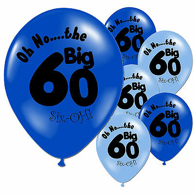 "20 Blue 60th Birthday 11"" Pearlised Balloons"