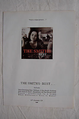 THE SMITHS - Best..... - 1992 Magazine Advertisment Poster