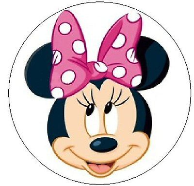 """~MINNIE MOUSE w/PINK POLKA DOT BOW~ 1"""" Sticker / Seal Labels!"""