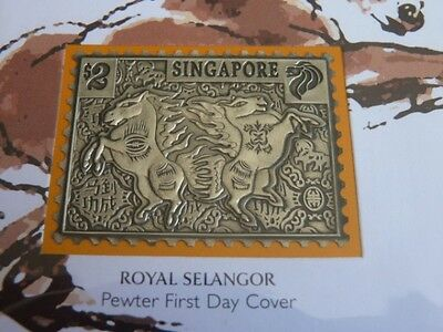 Singapore Zodiac series Year of the Horse pewter ingot cover