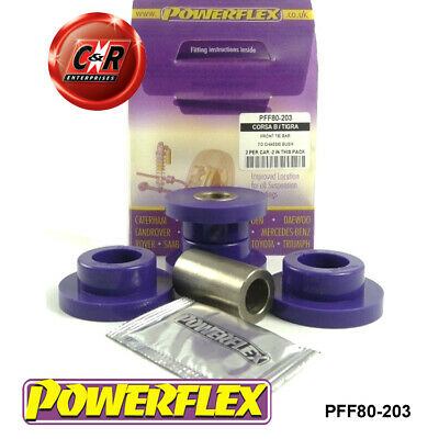 Vauxhall Corsa B Early Model Powerflex Front TieBar-Chassis Bushes PFF80-203