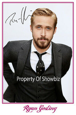 *ryan Gosling* Large Signed Autograph Photo, Looks Great Framed!!