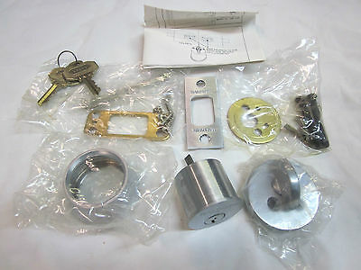 Baldwin 8041.264 Auxiliary Deadbolt Cylinder/Turnpiece SATIN CHROME NEW in box!